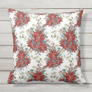 Almofada Travesseiro festivo do quadrado da flor da