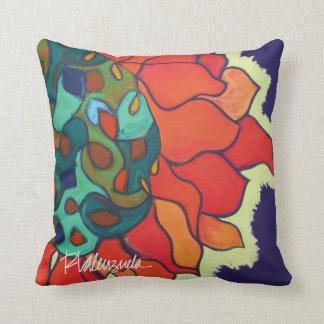 Almofada Travesseiro floral abstrato brilhante