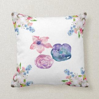 Almofada Travesseiro floral da aguarela