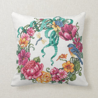 Almofada Travesseiro floral da grinalda