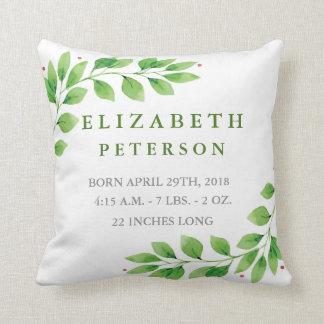 Almofada Travesseiro floral do anúncio do nascimento do
