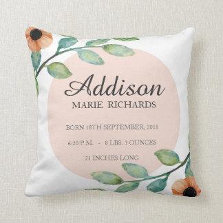 Almofada Travesseiro floral do anúncio do Stats do