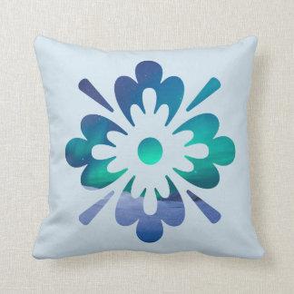 Almofada Travesseiro floral do design da aurora boreal da