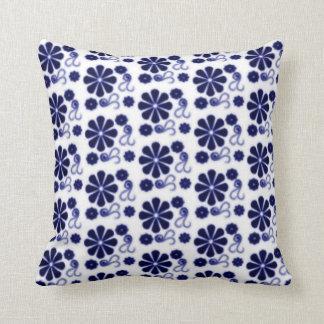 Almofada Travesseiro floral do redemoinho do Batik