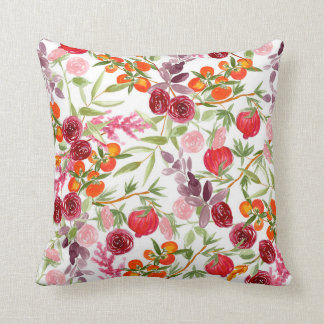 Almofada Travesseiro floral morno do teste padrão da