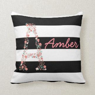 Almofada Travesseiro floral personalizado