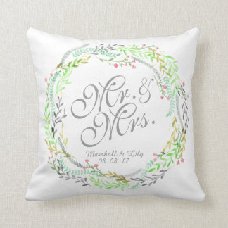 Almofada Travesseiro floral personalizado do casamento da