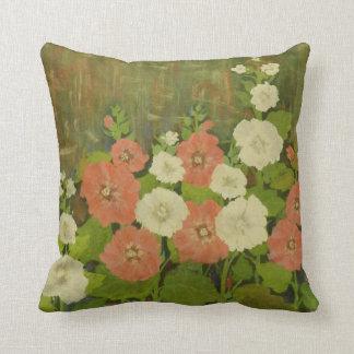 Almofada Travesseiro floral Vermelho-Branco