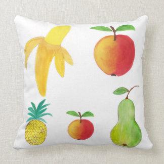 Almofada Travesseiro frutado com frutas da pintura da