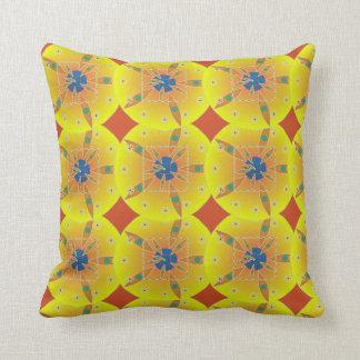 Almofada Travesseiro geométrico amarelo do algodão das