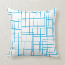 Almofada Travesseiro geométrico azul