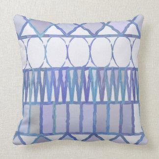 Almofada Travesseiro geométrico azul e branco da luz - das
