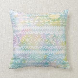 Almofada Travesseiro geométrico chique tribal da aguarela
