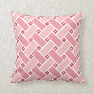 Almofada Travesseiro geométrico cor-de-rosa empoeirado do