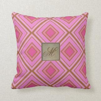 Almofada Travesseiro geométrico cor-de-rosa personalizado