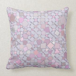 Almofada Travesseiro geométrico das formas do rosa