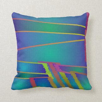 Almofada Travesseiro geométrico do arco-íris