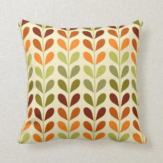 Almofada Travesseiro geométrico retro das folhas
