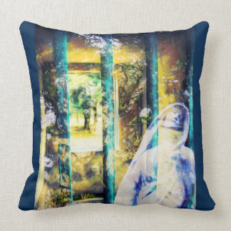 Almofada Travesseiro gótico azul surreal do cemitério