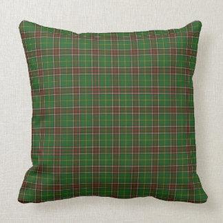 Almofada Travesseiro grande da xadrez verde feita sob