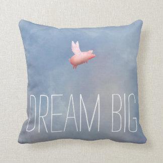 Almofada Travesseiro grande do sonho do porco do vôo
