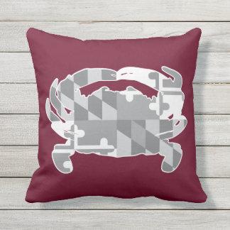 Almofada Travesseiro greyscale da bandeira/caranguejo de