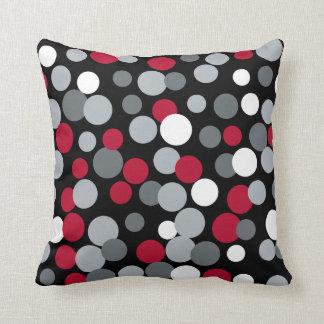 Almofada Travesseiro Home vermelho e preto retro dos pontos