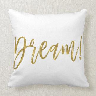 Almofada Travesseiro ideal da folha de ouro do falso