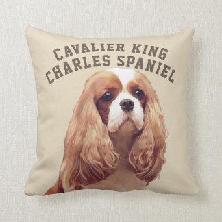 Almofada Travesseiro ilustrado descuidado do Spaniel de rei