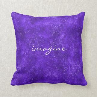 Almofada Travesseiro inspirado com galáxia ultravioleta