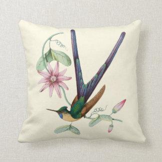 Almofada Travesseiro interno floral 16x16 do colibri de