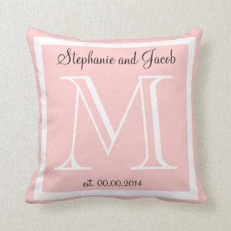Almofada Travesseiro leve da lembrança do casamento do rosa
