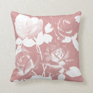 Almofada Travesseiro lindo COR-DE-ROSA dos rosas de