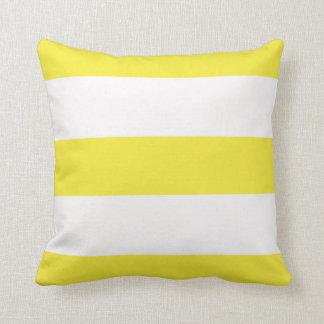 Almofada Travesseiro listrado das listras do limão listra