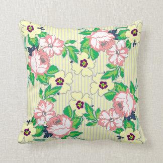 Almofada Travesseiro macio dos rosas do vintage