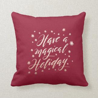 Almofada travesseiro mágico do feriado do feriado