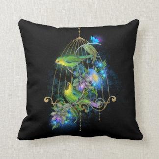 Almofada Travesseiro mágico do preto azul da gaiola da