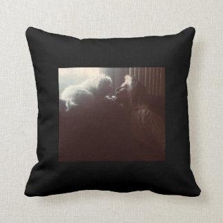 Almofada Travesseiro maltês do amor - preto/cinza/branco