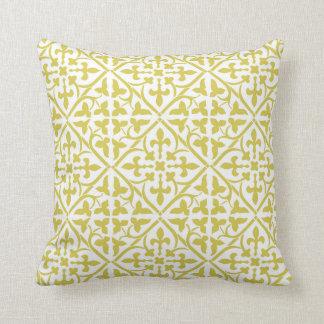 Almofada Travesseiro medieval amarelo do teste padrão