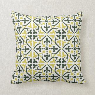 Almofada Travesseiro medieval do teste padrão de 3 cores