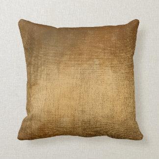Almofada Travesseiro metálico da escova Glam mínima do ouro