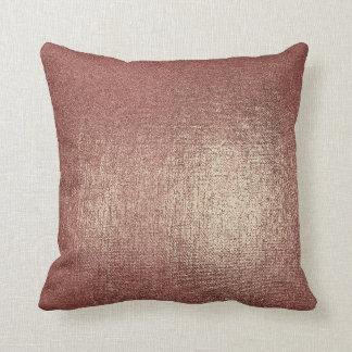 Almofada Travesseiro metálico Glam do ouro cor-de-rosa do