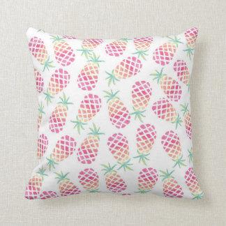 Almofada Travesseiro modelado do abacaxi aguarela