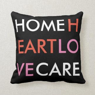 Almofada Travesseiro moderno - palavras - cuidado Home do