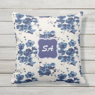 Almofada Travesseiro Monogrammed bonito do design floral