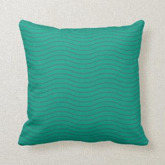 Almofada Travesseiro ondulado azul e verde do impressão de