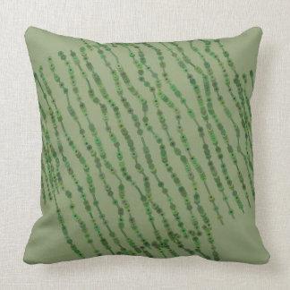 Almofada Travesseiro orgânico cinzento e verde das listras
