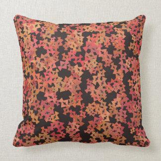 Almofada Travesseiro orgânico cor-de-rosa e alaranjado