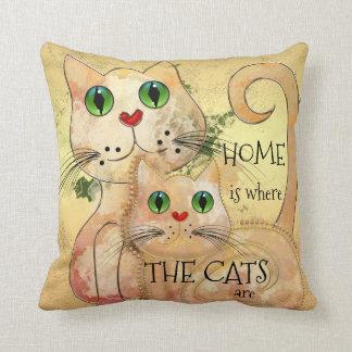 Almofada Travesseiro original da arte dos gatos bonitos