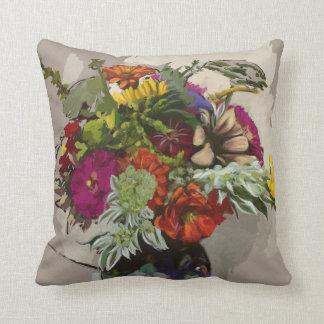 Almofada Travesseiro original do acento da flor da arte
